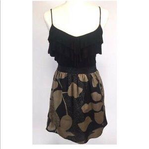Lush brand black and brown spaghetti strap dress